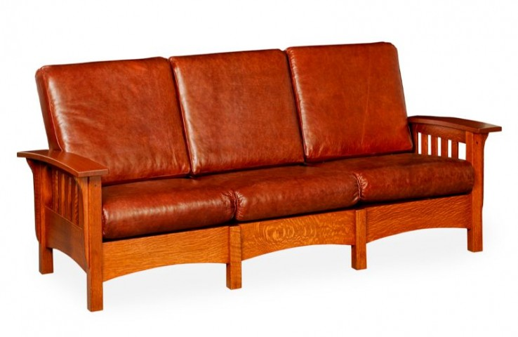 Sofa Couch Leather Craftsman Amish Depot