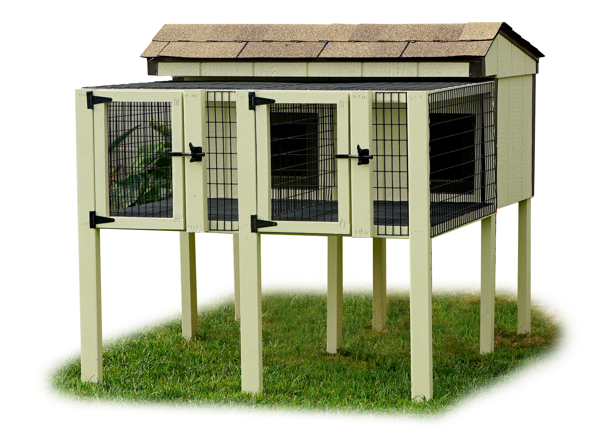 double-rabbit-hutch-Amish-Depot