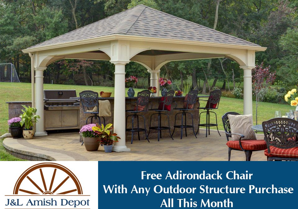 Free Adirondack Chair With Outdoor Structure Purchase