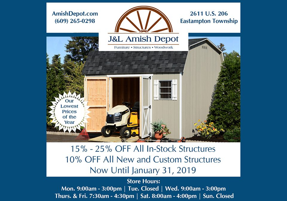 Annual Structure Sale January 1-31 2019