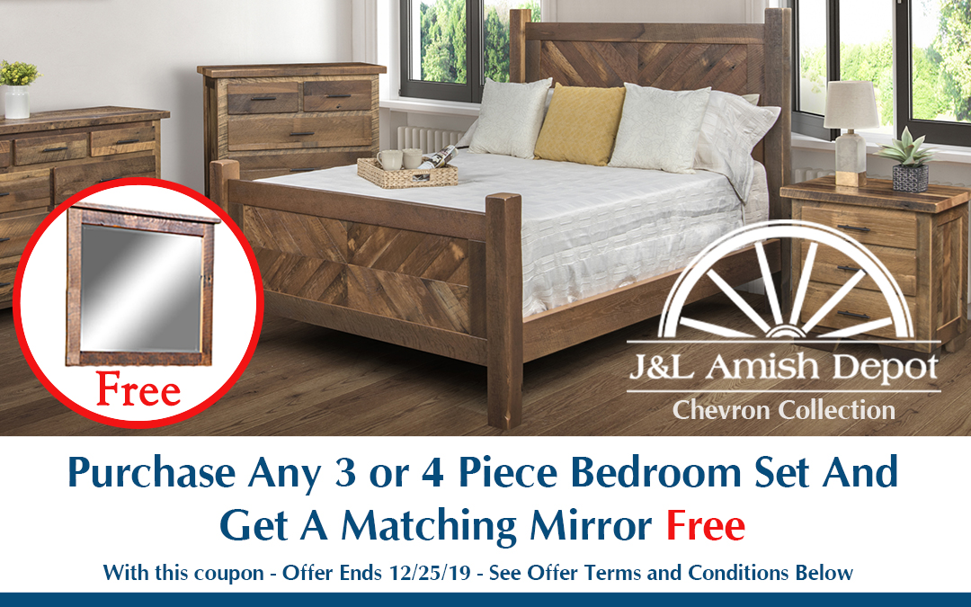 Purchase Any 3 or 4 Piece Bedroom Set And Get A Matching Mirror Free