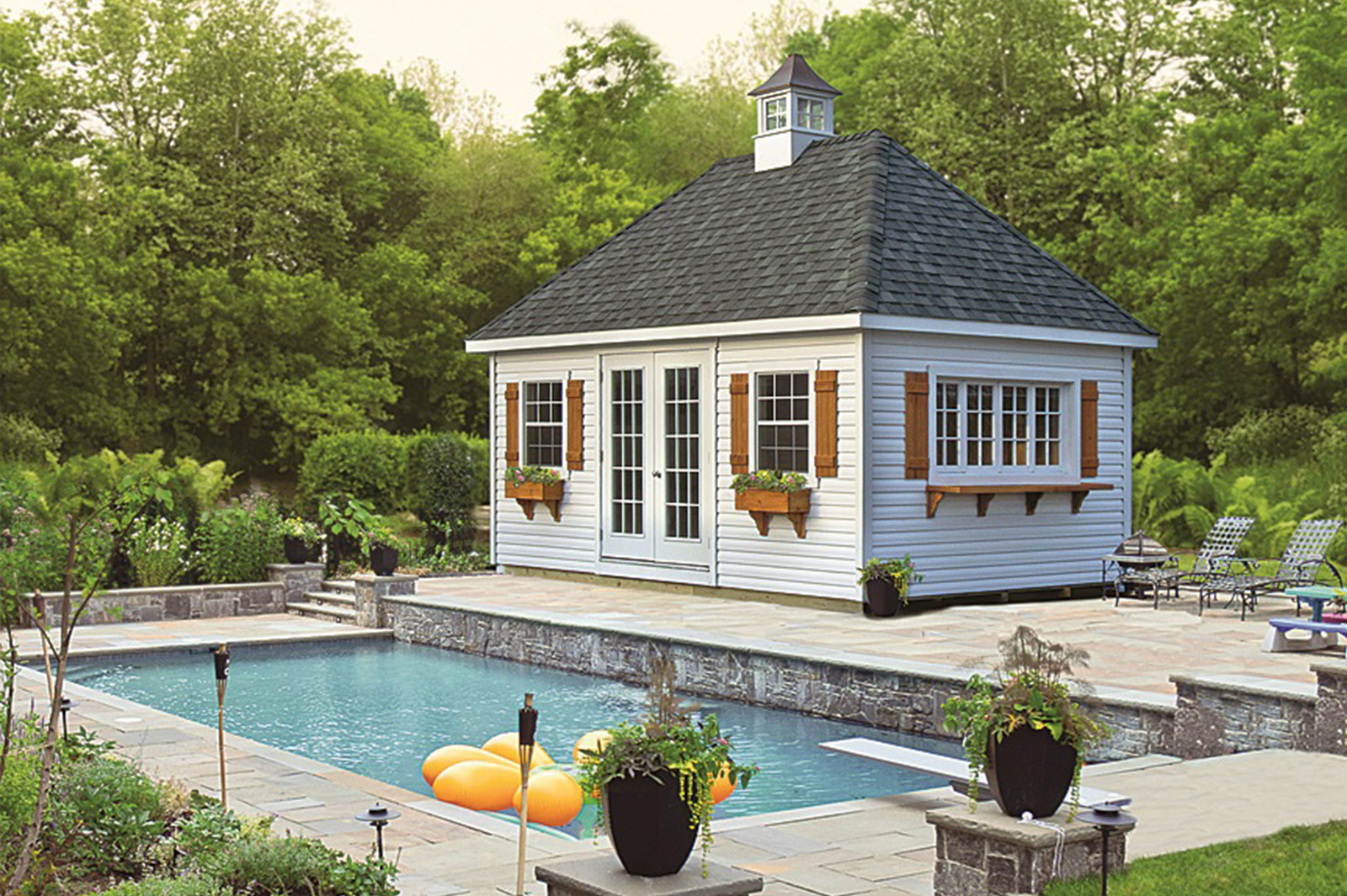 Cabanas Pool Houses And Poolside Bars Amish Depot