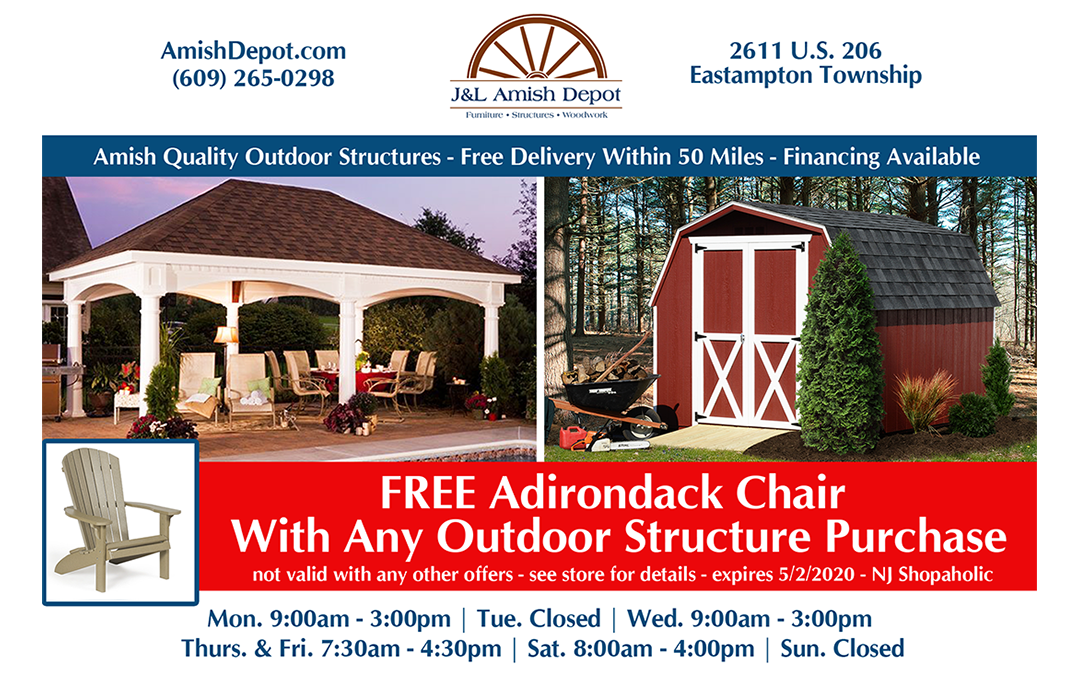 Free Adirondack Chair With Any Outdoor Structure Purchase